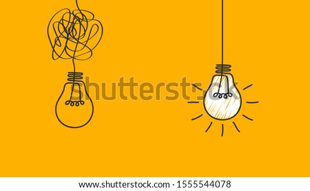 Idea concept, creative bulb sign, innovations. Keep it simple business concept for project management, marketing, creativity – stock vector Royalty-Free Stock Photo #1555544078