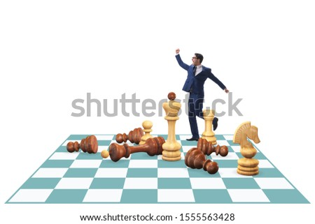 Strategy and tactics concept with businessman #1555563428