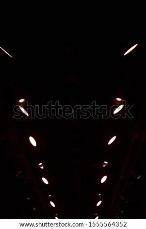 Spotlights on dark podium. Catwalk stage spotlights #1555564352