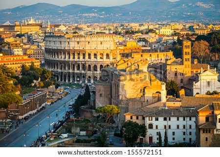 View on Colosseum in Rome, Italy #155572151