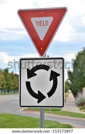 Yield, Circle Sign