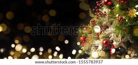 2020 Merry Christmas and New Year holidays background. Blurred bokeh background #1555783937