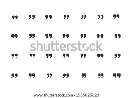 Set of quote mark, quotes icon vector sign design Royalty-Free Stock Photo #1555825823