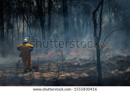 Rural Firefighter observes bushfire in Glen Innes #1555830416