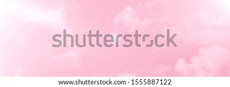 Pink sky background with white clouds. twilight purple and pink colors. pink pattern. pink textured background  #1555887122