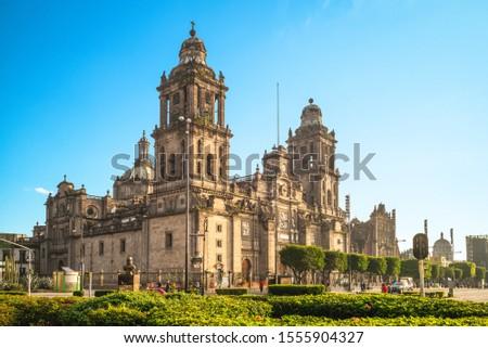 Mexico City Metropolitan Cathedral in Mexico Royalty-Free Stock Photo #1555904327