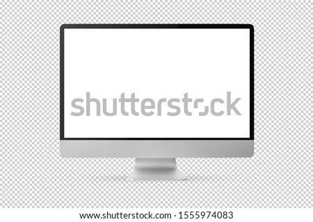 new model of computer display isolated with clipping path on transparent background