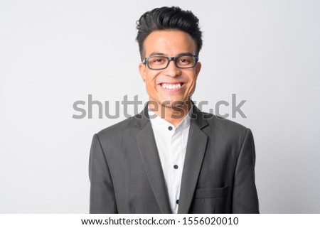 Face of happy young Asian businessman with eyeglasses smiling #1556020010