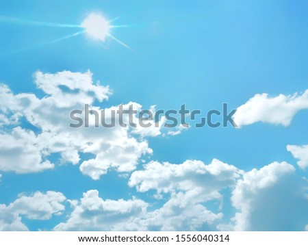 Beautiful blue and white sky background textures #1556040314