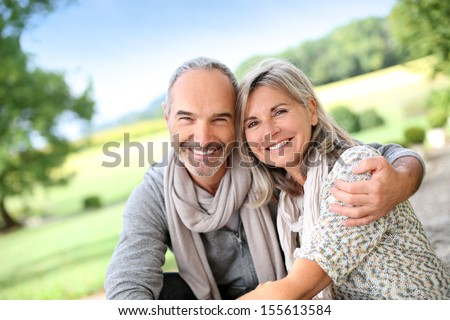 Portrait of loving senior couple #155613584