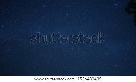 The beautiful night sky view with the twinkle stars and milk river in the sky #1556480495