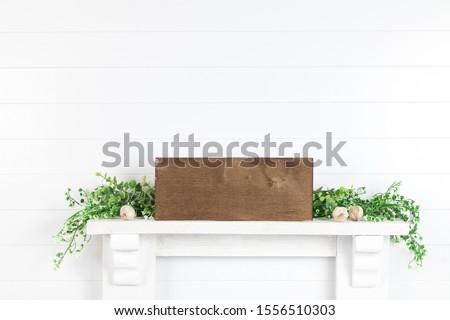 Wood Sign Mock Up - Farmhouse Mockup for Design