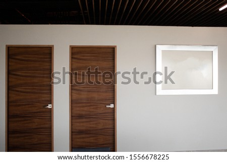 Office interior, with various materials. #1556678225
