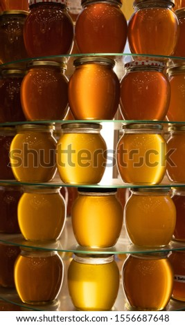 Different types of turkish honey