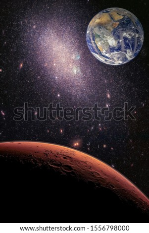 Galaxy in space, beauty of universe, black hole. Elements furnished by NASA #1556798000