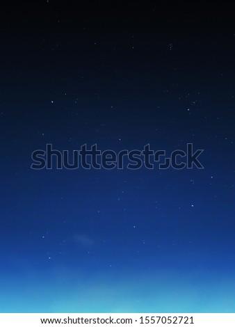 stars in night blue sky