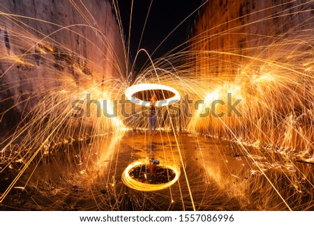 Photography Steel wool in different ways. Using a camera with shutter speed traction techniques Long-exposure .