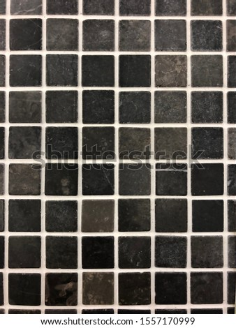 small glass tile, black and white mosaic #1557170999