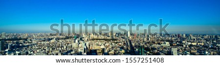 Modern city buildings panorama. Tokyo, Japan. #1557251408