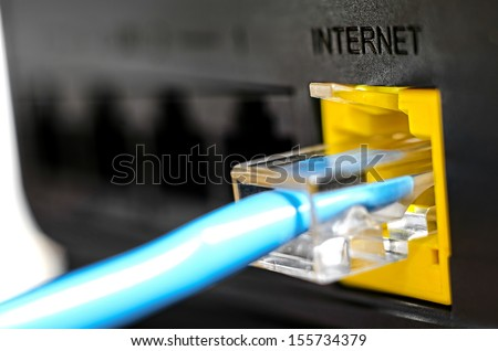 Socket for Internet connection Royalty-Free Stock Photo #155734379