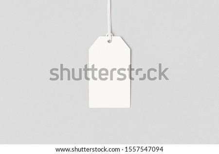 White clothing or gift tag mockup.