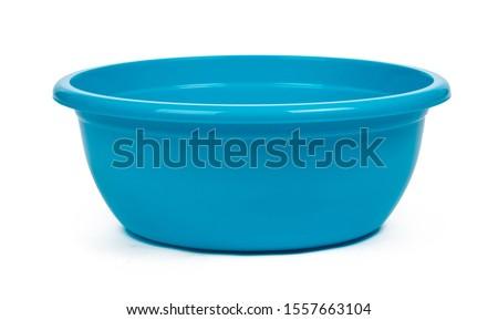Plastic empty basin isolated on white background #1557663104
