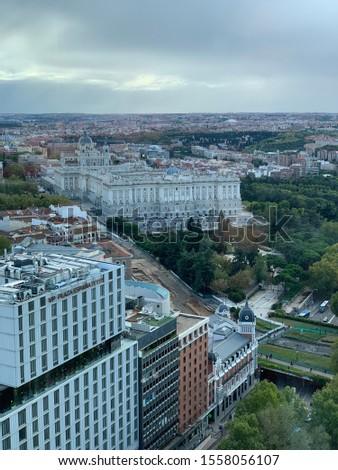 Aerial view of Madrid, Spain #1558056107