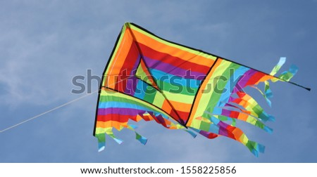 big kite flying on the blue sky #1558225856