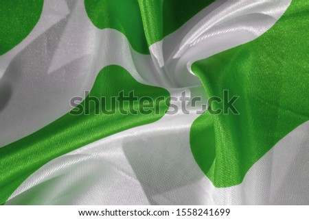 Texture, background, pattern, postcard, silk fabric, green white ovals, your projects will not go unnoticed with this fabric, buying this fabric you will be the best #1558241699