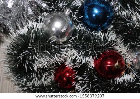 Christmas decoration background; Christmas balls and Christmas decoration #1558379207