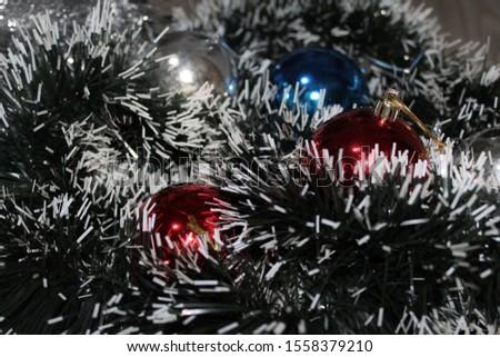 Christmas decoration background; Christmas balls and Christmas decoration #1558379210