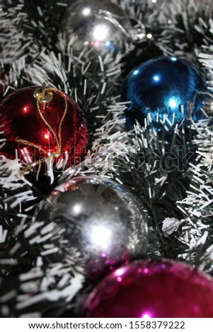 Christmas decoration background; Christmas balls and Christmas decoration #1558379222