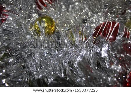 Christmas decoration background; Christmas balls and Christmas decoration #1558379225