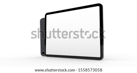 computer device mobile isolated background 3d #1558573058