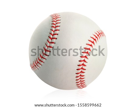 Baseball isolated on white background #1558599662
