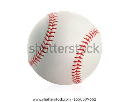 Baseball isolated on white background Royalty-Free Stock Photo #1558599662