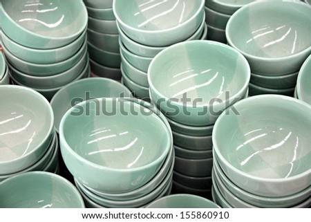 Green Pattern of Bowl soup. #155860910