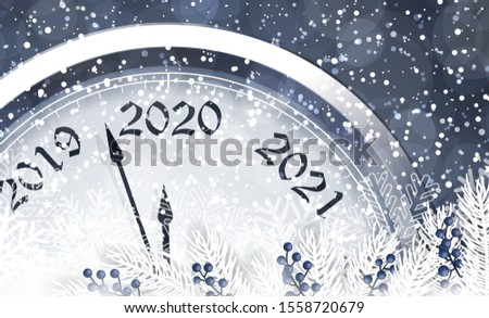 New Year's Eve 2020. Vector. #1558720679