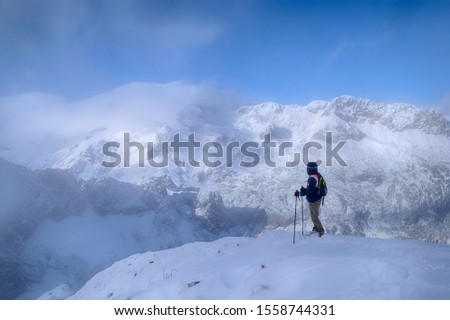trekking in November in the Slovenian Alps #1558744331