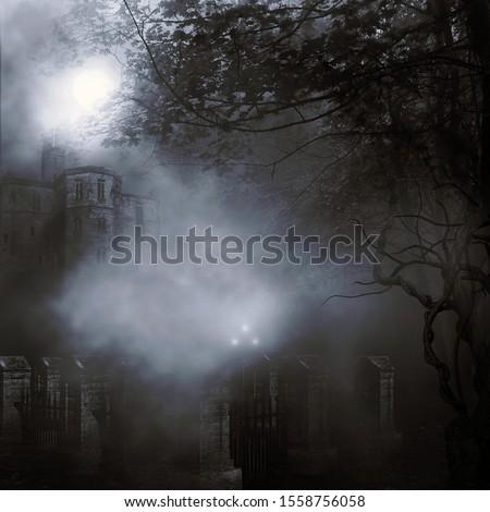 3d rendering of a spooky landscape #1558756058