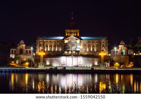 Night panorama of Terraces Haken Royalty-Free Stock Photo #1559042150