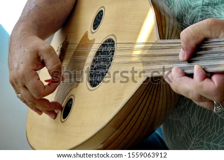 Saz and hand,Turkish musical instrument #1559063912