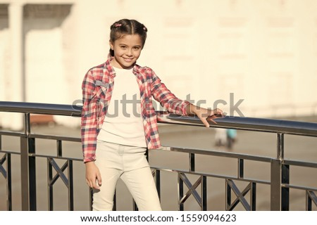 Girl cute kid urban background. Activities for teenagers. Vacation and leisure. Weekend events for kids. Leisure fun ideas. Event overview. What do on holidays. Leisure options. Free time and leisure. #1559094623
