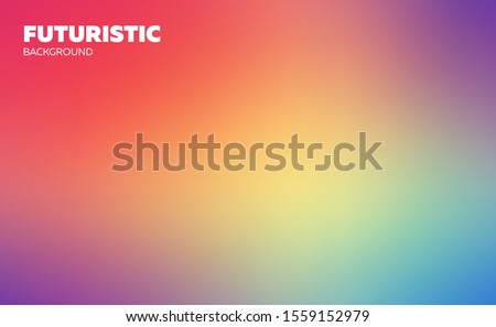 Abstract blurred gradient mesh background. Colorful wallpaper and smooth banner template. Editable soft colored vector illustration without transparency. Rainbow natural sky gamma. #1559152979