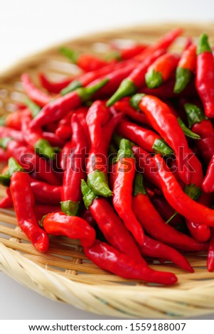 Red peppers.  Chilli peppers. Hot peppers. #1559188007