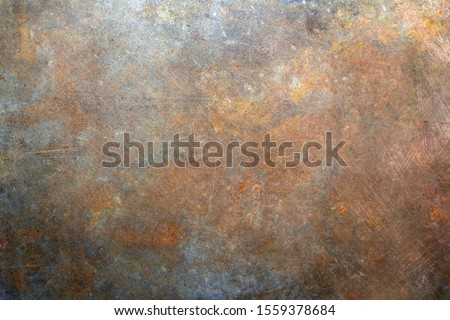 Rusty metal background, scratches texture Royalty-Free Stock Photo #1559378684
