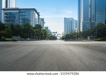 The expressway and the modern city skyline are in Chongqing, China. #1559479286