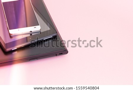 electronic devices, with copy space #1559540804