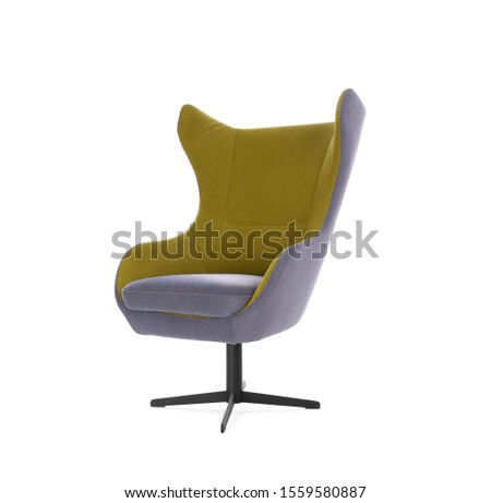 Comfortable armchair isolated on white. Interior element #1559580887