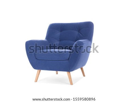 Comfortable armchair isolated on white. Interior element #1559580896